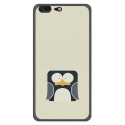 Funda Gel Tpu para Leagoo T5 Diseño Pingüino Dibujos
