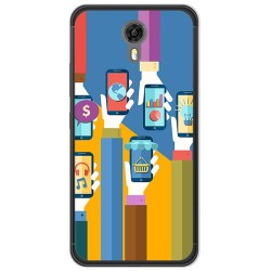 Funda Gel Tpu para Ulefone Power 2 Diseño Apps Dibujos