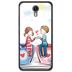 Funda Gel Tpu para Ulefone Power 2 Diseño Cafe Dibujos