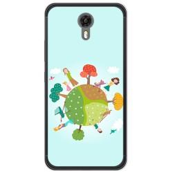 Funda Gel Tpu para Ulefone Power 2 Diseño Familia Dibujos