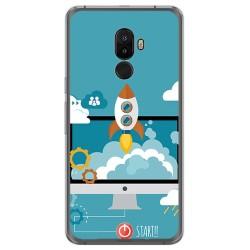 Funda Gel Tpu para Ulefone S8 / S8 Pro Diseño Cohete Dibujos