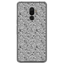 Funda Gel Tpu para Ulefone S8 / S8 Pro Diseño Letras Dibujos