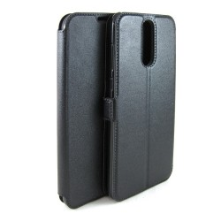 Funda Soporte Piel Negra para Huawei Mate 10 Lite Flip Libro