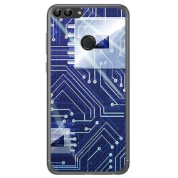 Funda Gel Tpu para Huawei P Smart Diseño Circuito Dibujos