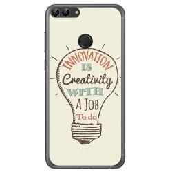 Funda Gel Tpu para Huawei P Smart Diseño Creativity Dibujos