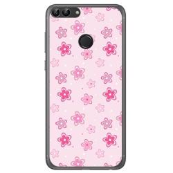 Funda Gel Tpu para Huawei P Smart Diseño Flores Dibujos