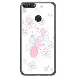 Funda Gel Tpu para Huawei P Smart Diseño Flores Minimal Dibujos