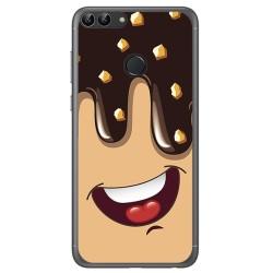 Funda Gel Tpu para Huawei P Smart Diseño Helado Chocolate Dibujos