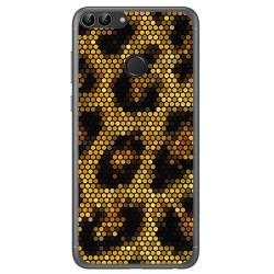 Funda Gel Tpu para Huawei P Smart Diseño Leopardo Dibujos