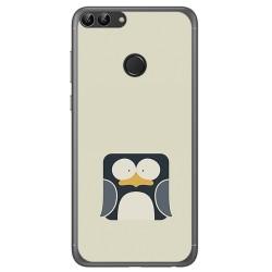 Funda Gel Tpu para Huawei P Smart Diseño Pingüino Dibujos