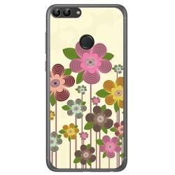 Funda Gel Tpu para Huawei P Smart Diseño Primavera En Flor  Dibujos