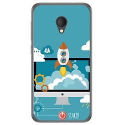 Funda Gel Tpu para Alcatel U5 Hd / U5 Hd Premium Diseño Cohete Dibujos