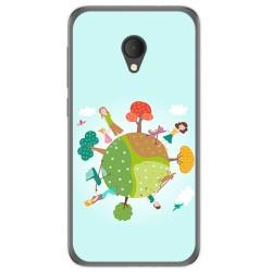 Funda Gel Tpu para Alcatel U5 Hd / U5 Hd Premium Diseño Familia Dibujos