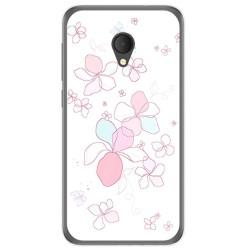 Funda Gel Tpu para Alcatel U5 Hd / U5 Hd Premium Diseño Flores Minimal Dibujos