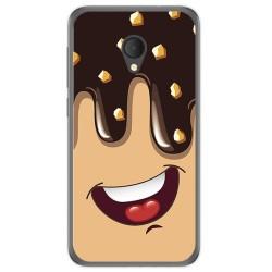 Funda Gel Tpu para Alcatel U5 Hd / U5 Hd Premium Diseño Helado Chocolate Dibujos