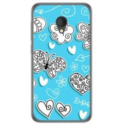 Funda Gel Tpu para Alcatel U5 Hd / U5 Hd Premium Diseño Mariposas Dibujos