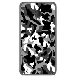 Funda Gel Tpu para Alcatel U5 Hd / U5 Hd Premium Diseño Snow Camuflaje Dibujos