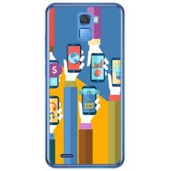 Funda Gel Tpu para Oukitel K5000 Diseño Apps Dibujos