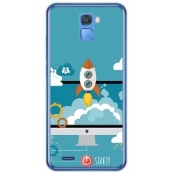 Funda Gel Tpu para Oukitel K5000 Diseño Cohete Dibujos