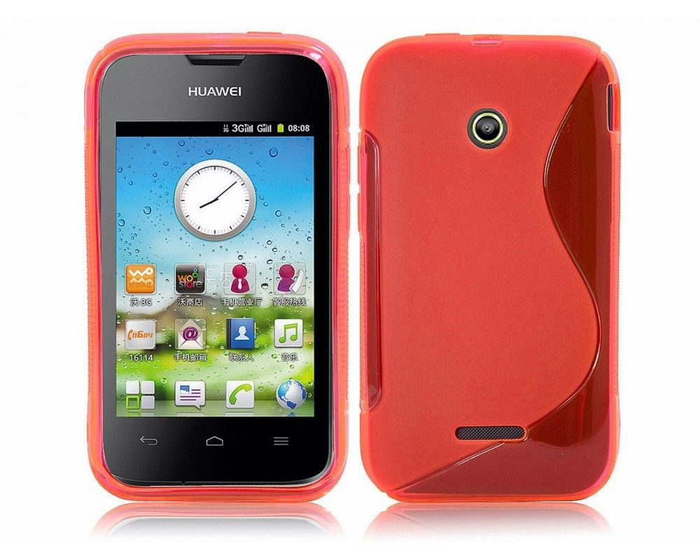 Funda Gel Tpu Huawei Ascend Y210 S Line Color Roja