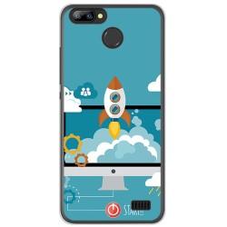 Funda Gel Tpu para Blackview A7 / A7 Pro Diseño Cohete Dibujos