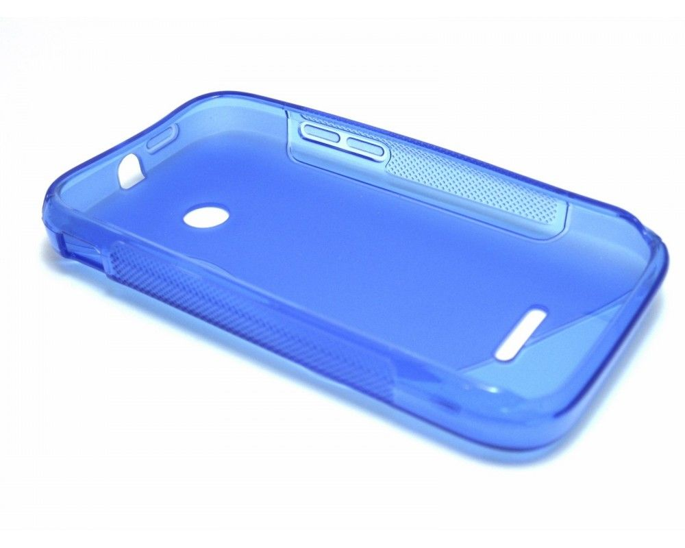 Funda Gel Tpu Huawei Ascend Y210 S Line Color Azul