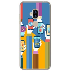 Funda Gel Tpu para Blackview S8 Diseño Apps Dibujos