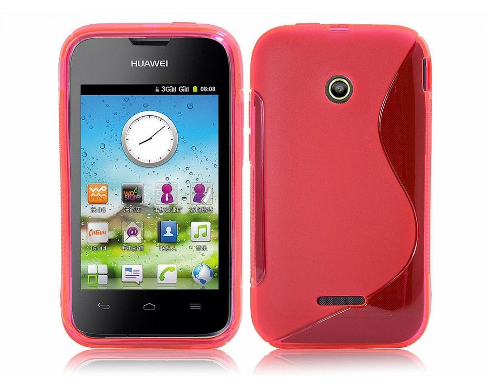 Funda Gel Tpu Huawei Ascend Y210 S Line Color Rosa