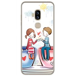 Funda Gel Tpu para Blackview S8 Diseño Cafe Dibujos