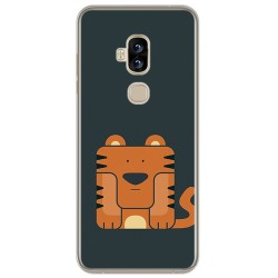 Funda Gel Tpu para Blackview S8 Diseño Tigre Dibujos