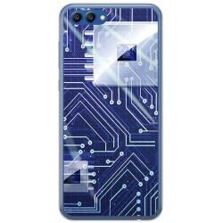 Funda Gel Tpu para Huawei Honor View 10 Diseño Circuito Dibujos