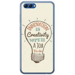 Funda Gel Tpu para Huawei Honor View 10 Diseño Creativity Dibujos