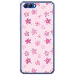 Funda Gel Tpu para Huawei Honor View 10 Diseño Flores Dibujos