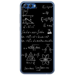 Funda Gel Tpu para Huawei Honor View 10 Diseño Formulas Dibujos