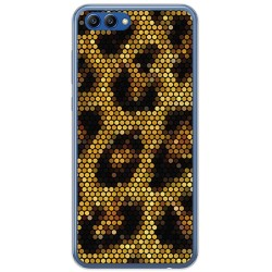 Funda Gel Tpu para Huawei Honor View 10 Diseño Leopardo Dibujos