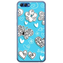 Funda Gel Tpu para Huawei Honor View 10 Diseño Mariposas Dibujos