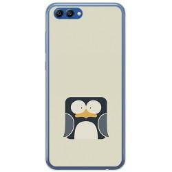 Funda Gel Tpu para Huawei Honor View 10 Diseño Pingüino Dibujos
