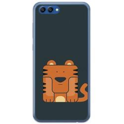 Funda Gel Tpu para Huawei Honor View 10 Diseño Tigre Dibujos