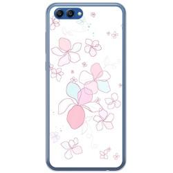 Funda Gel Tpu para Huawei Honor View 10 Diseño Flores Minimal Dibujos