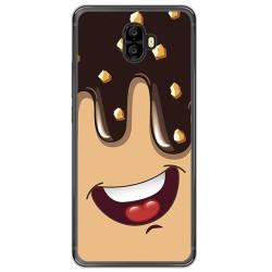 Funda Gel Tpu para Oukitel K8000 Diseño Helado Chocolate Dibujos
