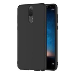 Funda Gel Tpu Tipo Mate Negra para Huawei Mate 10 Lite