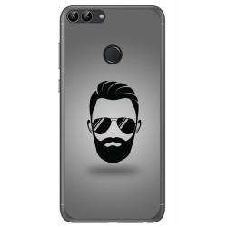 Funda Gel Tpu para Huawei P Smart Diseño Barba Dibujos