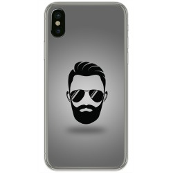 Funda Gel Tpu para Iphone X / XS Diseño Barba Dibujos