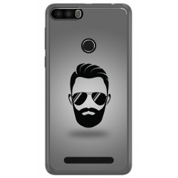 Funda Gel Tpu para Leagoo Kiicaa Power Diseño Barba Dibujos