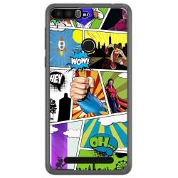Funda Gel Tpu para Leagoo Kiicaa Power Diseño Comic Dibujos