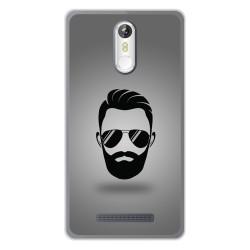 Funda Gel Tpu para Leagoo M8 / M8 Pro Diseño Barba Dibujos
