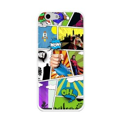 Funda Gel Tpu Orange Dive 71 / Zte Blade A506 Comic Dibujos