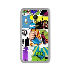 "Funda Gel Tpu Orange Rise 51 / Alcatel Pixi 4 (5"") 4G / Vodafone Smart Turbo 7 Comic Dibujos"