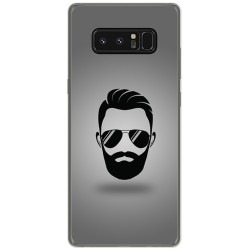 Funda Gel Tpu para Samsung Galaxy Note 8 Diseño Barba Dibujos
