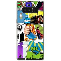 Funda Gel Tpu para Samsung Galaxy Note 8 Diseño Comic Dibujos